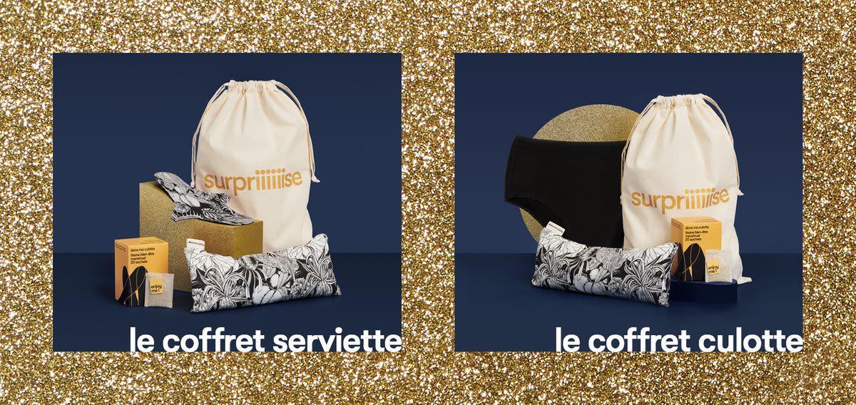 Présentation des coffrets de Noël Dans Ma Culotte avec des protections périodiques