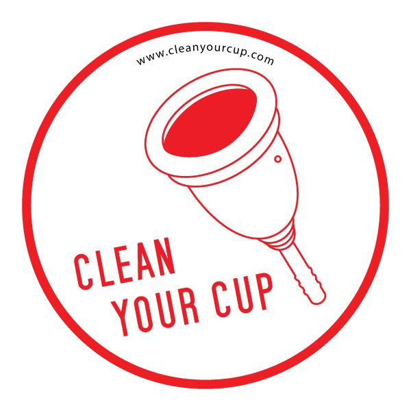 "Sticker avec une cup : ""Clean Your Cup"""
