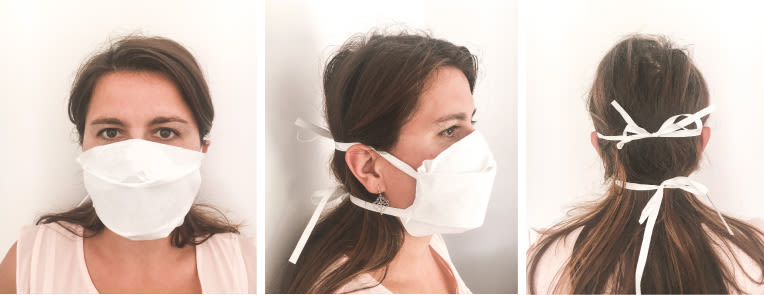 masque en textile lavable  à usage non sanitaire