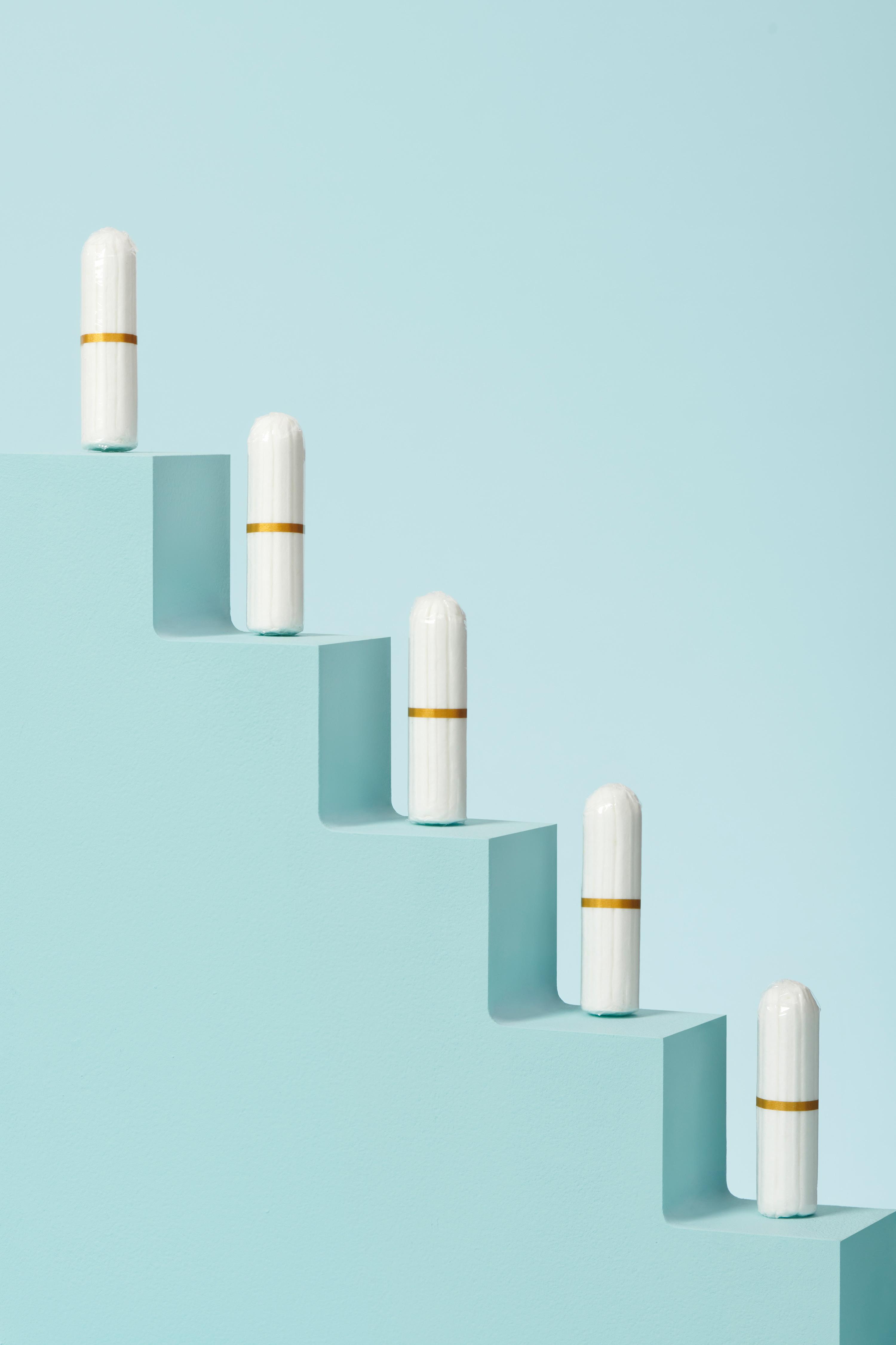 lot de 16 tampons bio pour flux normal - escalier