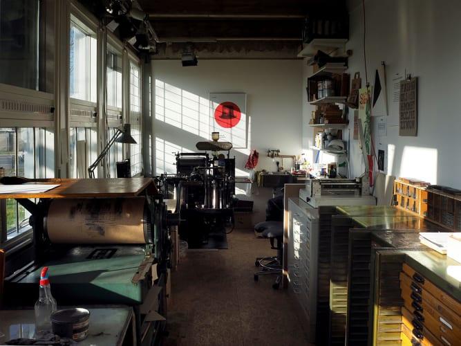 Letterpress-værkstedsplads i København