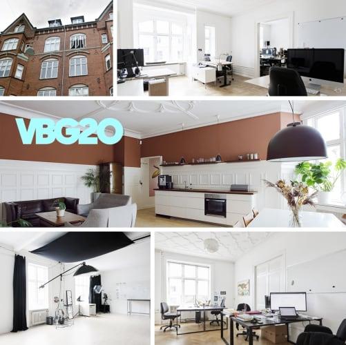 Kreativt kontorfællesskab på Vesterbrogade med stort fotostudie