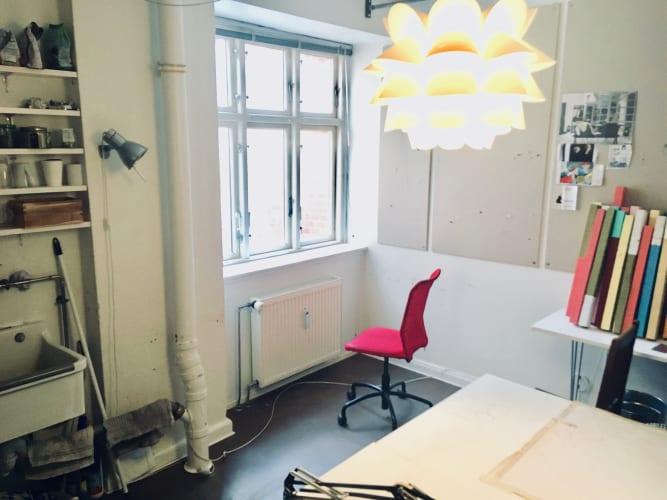 Hyggelig kontorplads på Nørrebro