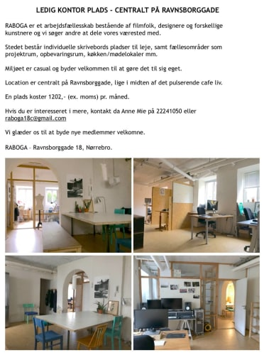 plads i kontorfællesskab på indre Nørrebro