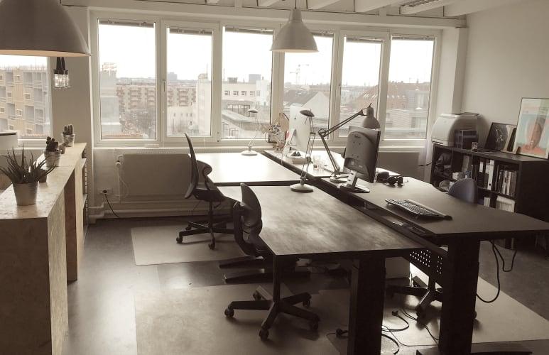 50kvm værksted / lager + 4 kontorpladser med udsigt i KBH NV - Rentemestervejskvarteret