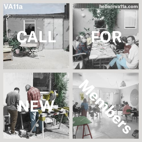 Call for new members in our artistic collective/workspace VA11a