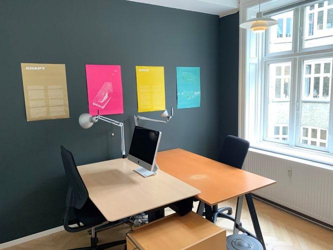 Plads i kreativt kontorfælleskab ved Hovedbanegården