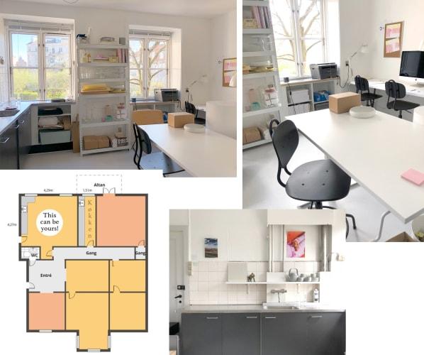 Privat studio eller kontor i kreativt fællesskab centralt på Frederiksberg