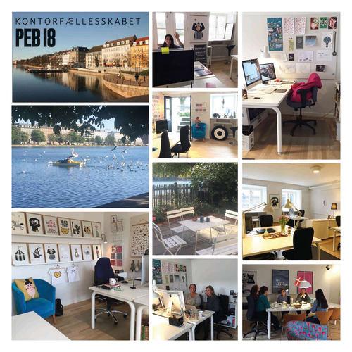 Super skøn kontorplads på PEB18 - 5 min fra Nørreport st.