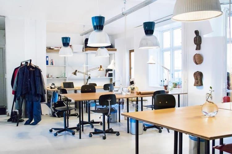 Flexplads i kreativt kontorfællesskab