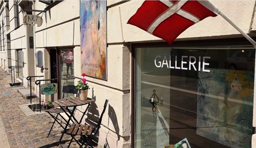 Galleri/ atelier fællesskab på Islands Brygge