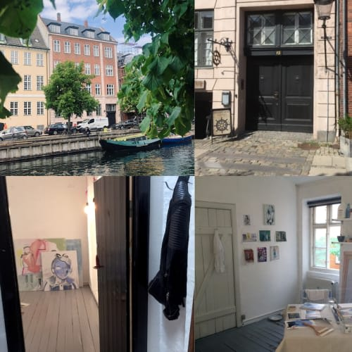 Christianshavn Kontor/atelier ud til kanalen