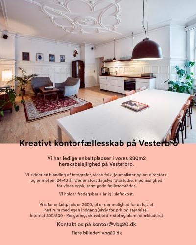 Kreativt kontorfællesskab på Vesterbro