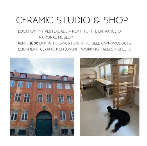 Workspace for ceramic artists