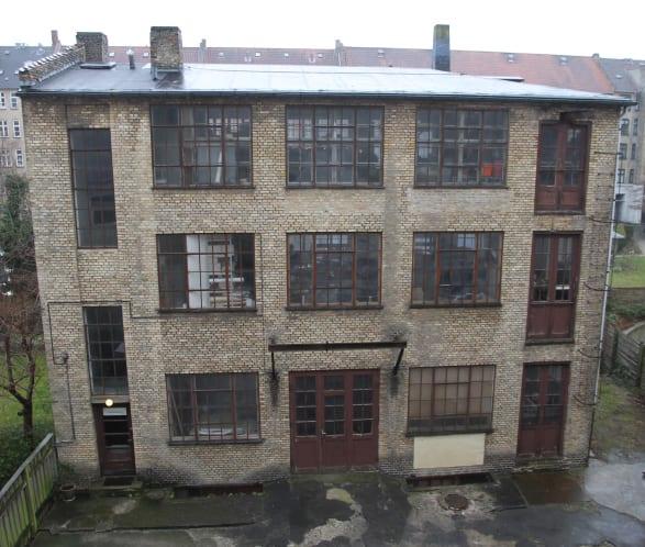 Rå 2. sal i fabriksbygning Frederiksberg