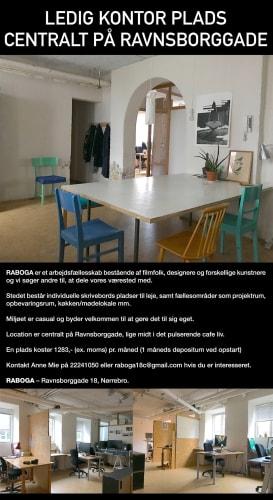 Kontorfællesskab på Ravnsborggade har ledige pladser