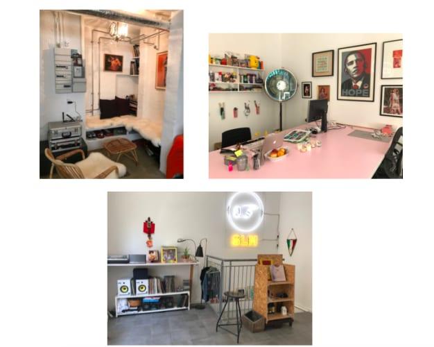 Skrivebordsplads(er) i sjovt og inspirerende krea-space på Frederiksberg