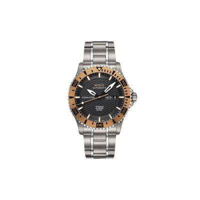 Relógio Masculino Mido Ocean Star Captain Automático Titânio - M0114305406102
