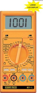 KM-801-KUSAM MECO-LARGE DISPLAY DIGITAL MULTIMETER