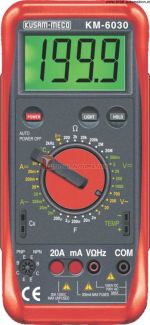 KM 6030-DIGIT LARGE DISPLAY DIGITAL MULTIMETER WITH TERMINAL LOCKING SYSTEM-KUSAM MECO