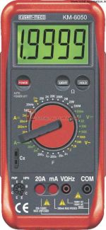 KM 6050-DIGITAL MULTIMETER WITH TERMINAL BLOCKING PROTECTION-KUSAM MECO