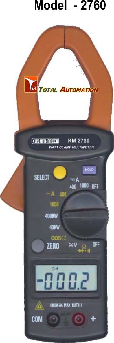 Digital Watt Meter Clamp : Km kusam meco digital dc ac watt power clamp meter