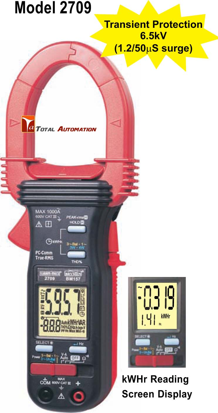 Three Phase Electricity Meter : Km kusam meco phase power clamp on meter trms kwhr