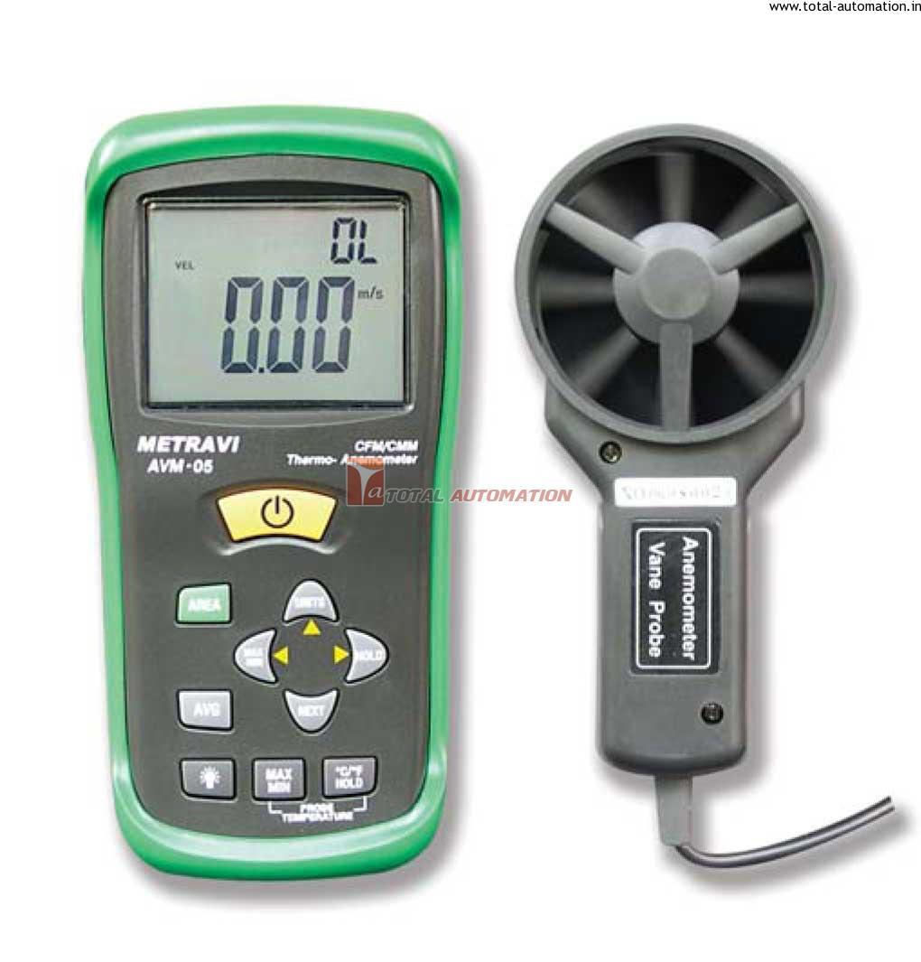 Digital Anemometer AVM 05| Temperature| Flow| Metravi