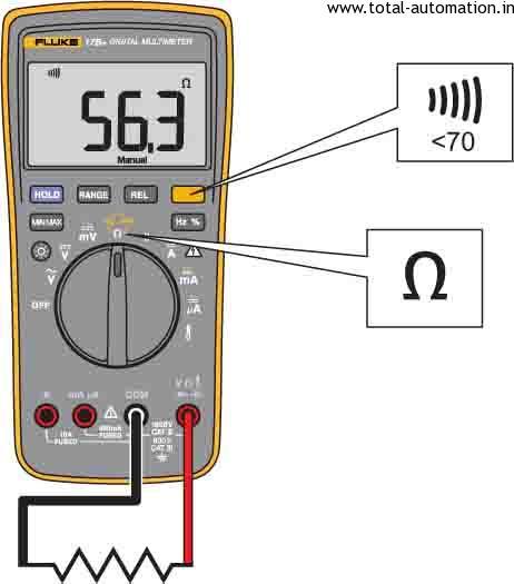 Digital Multimeter Fluke 17b With Over Voltage Indicator