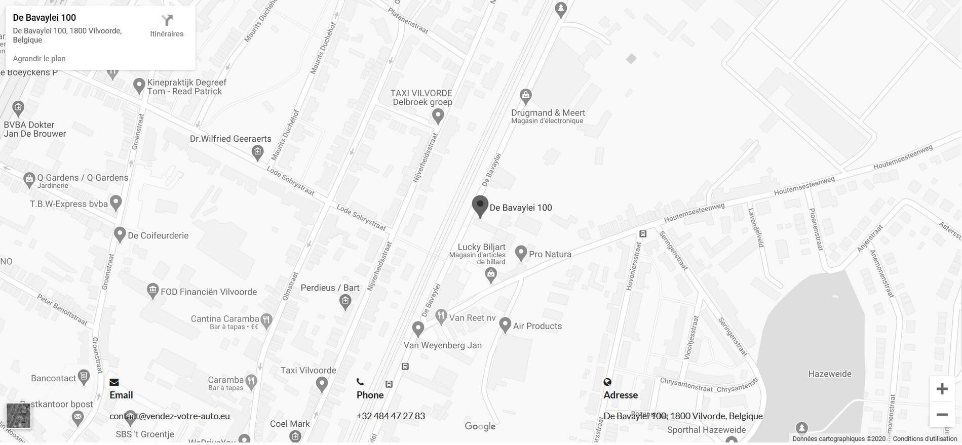 Adresse sur Google Maps