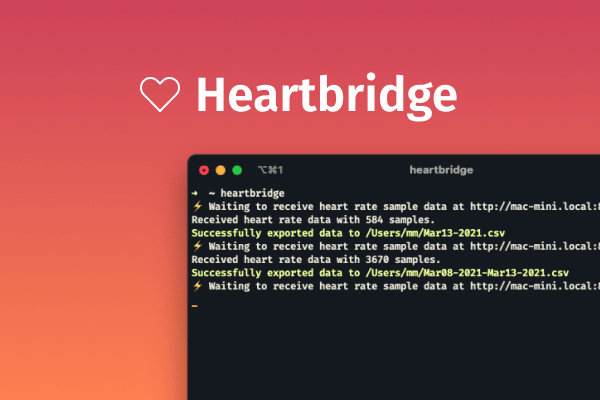 Screenshot of the Heartbridge CLI being used