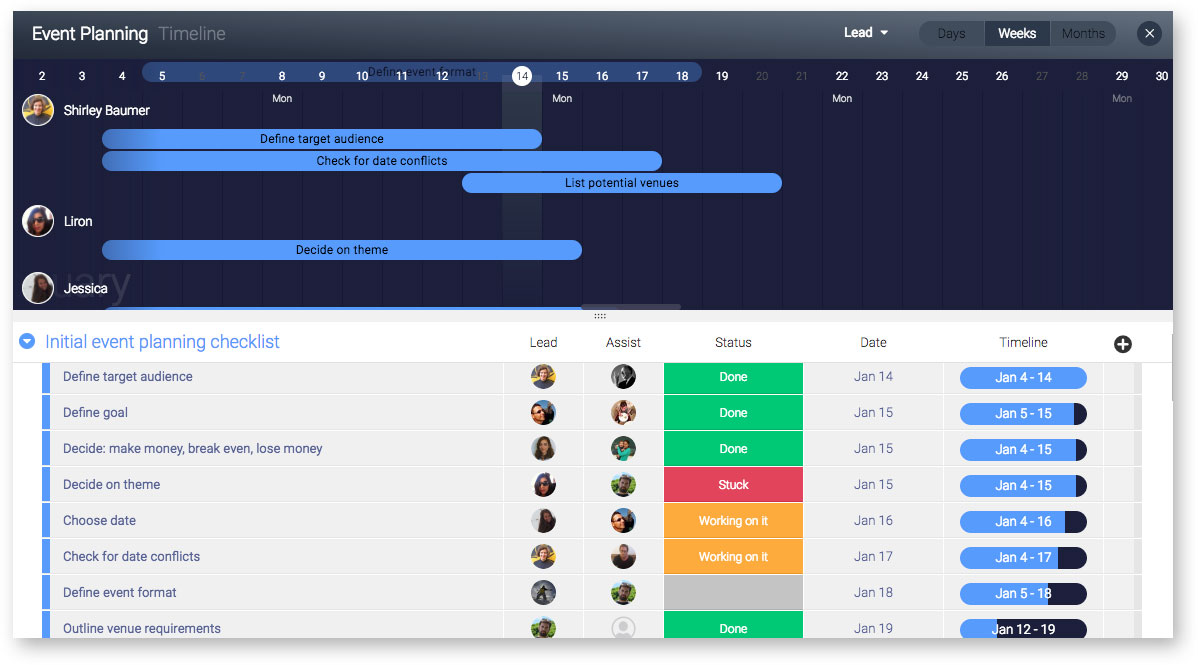 one event schedule template customizable to all your needs free
