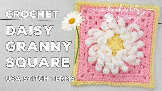 Create your own 3D Daisy Flower Granny Square