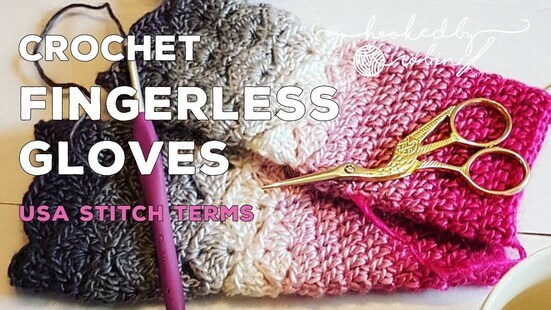 Create your own Fantail Shell Stitch Fingerless Gloves