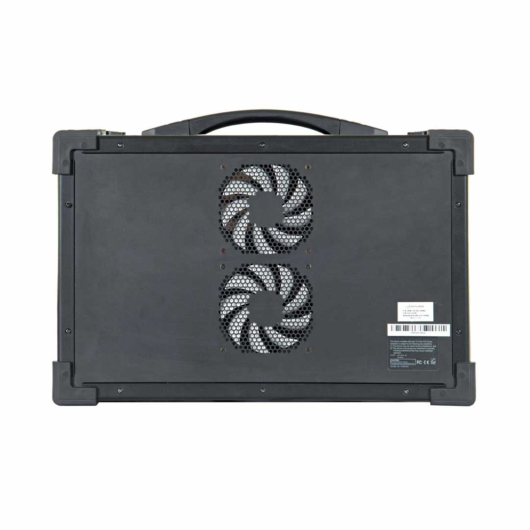 Portable High-Speed Data Acquisition & Record System DDR200-P back with fans