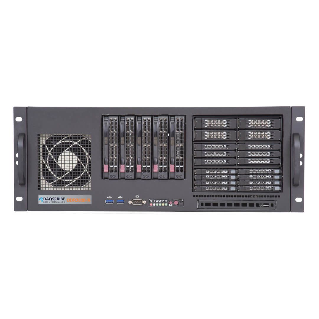 High-Speed Data Acquisition System DDR3000-R front panel