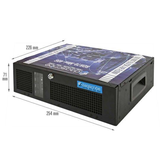 Mini 40GbE capture & record system DDR70-mini-40G with dimensions