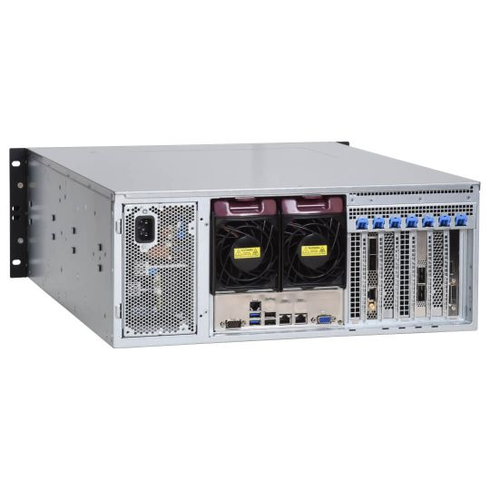 high-speed network recorder DDR7000-R-100G back side view