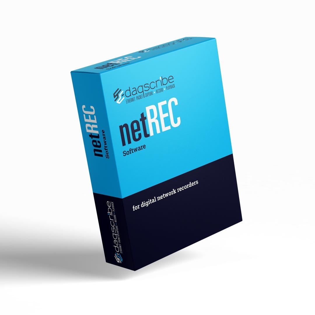 netREC Daqscribe proprietary software for network recorders