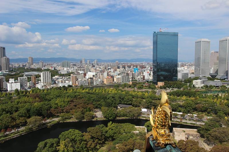 大阪城天守閣からの景色
