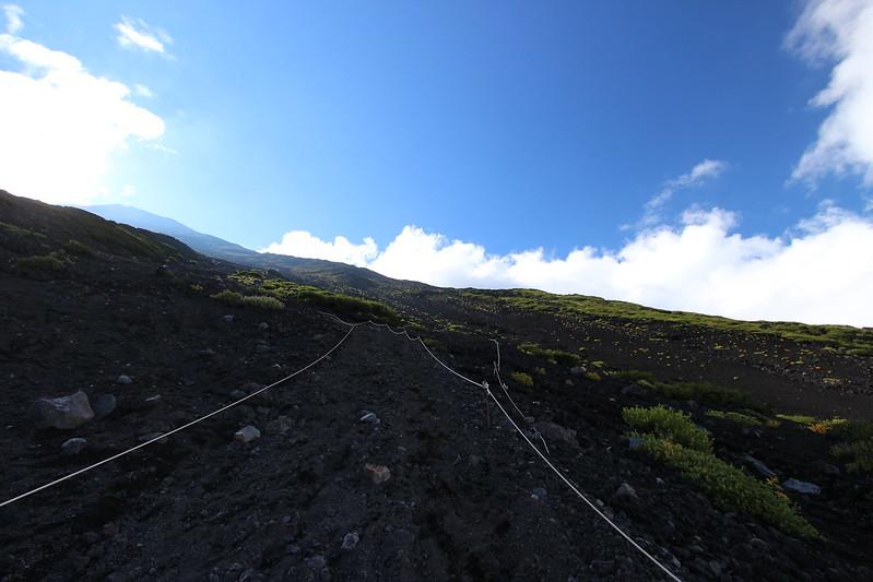 富士登山 下山 砂走り その3