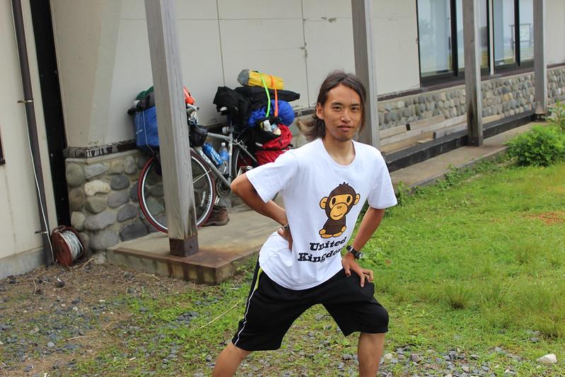 日本一周チャリダーの野村さんとお別れ
