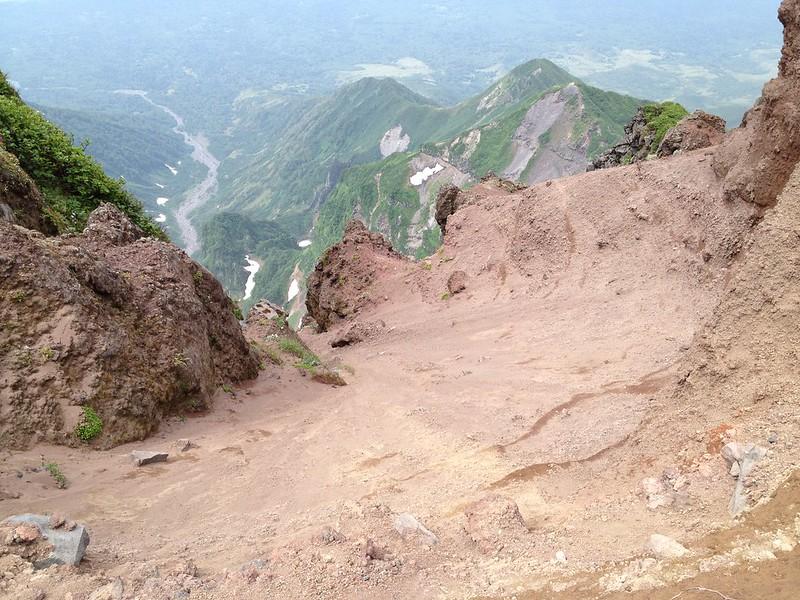 利尻岳の山頂付近