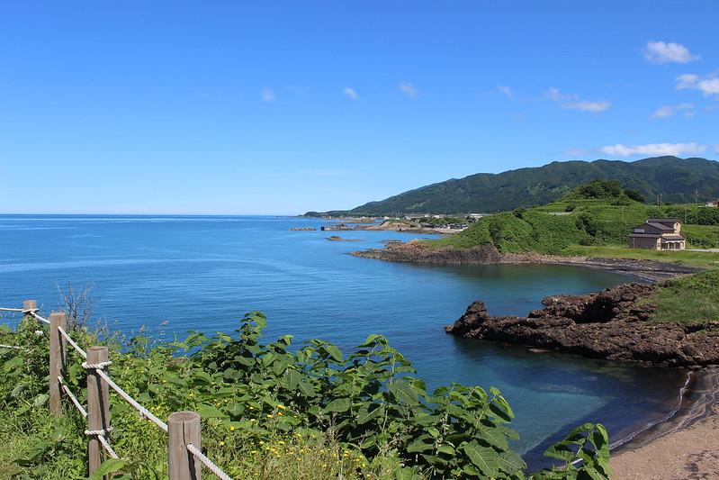 八森岩館県立自然公園からの景色