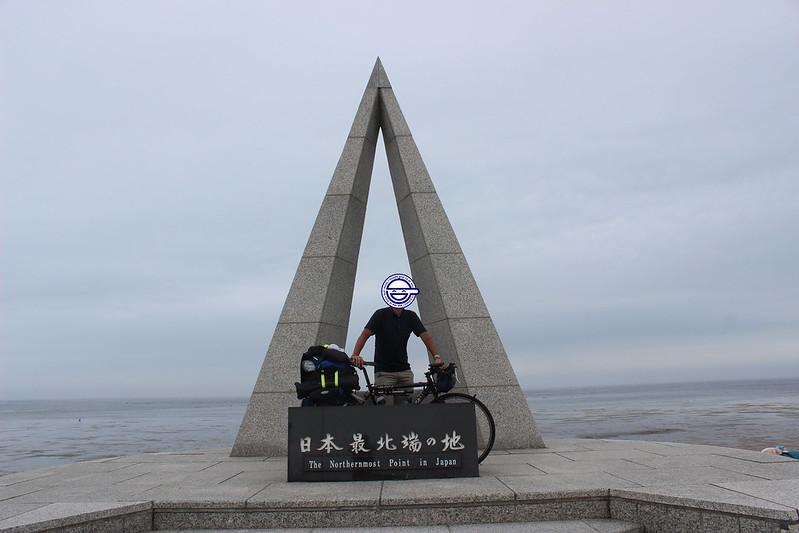 宗谷岬で記念撮影