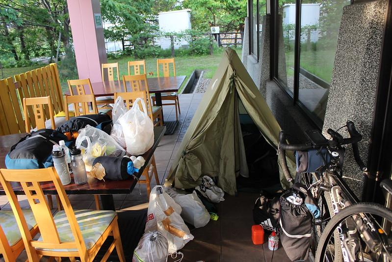 道の駅もりたでテント