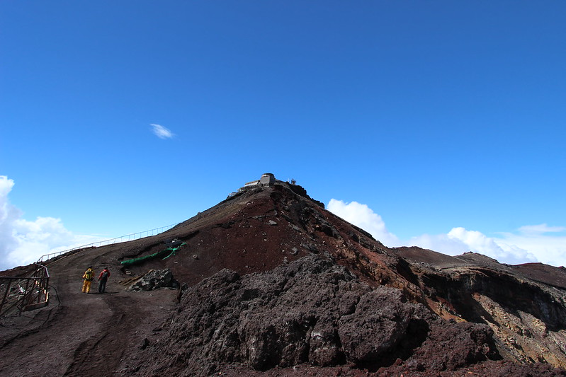 富士登山 剣ヶ峰から帰還