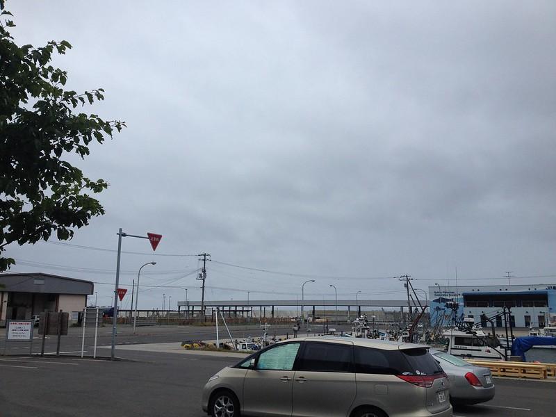 道の駅寿都からの空