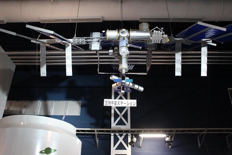 国際宇宙ステーションの模型