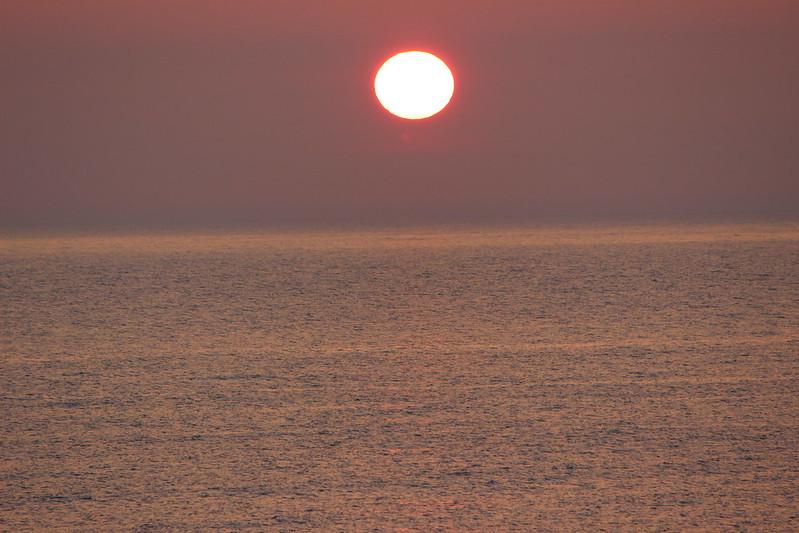 桃岩荘からの夕日
